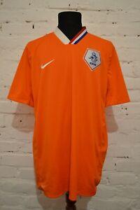 NETHERLANDS HOME FOOTBALL SHIRT 2008/2009/2010 SOCCER JERSEY HOLLAND MENS XXL