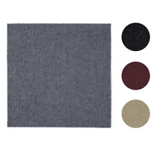 "12 Pcs Self-Adhesive Solid Carpet Tiles Actual: 12"" x 12"" Red/Gray/Black/Beige"