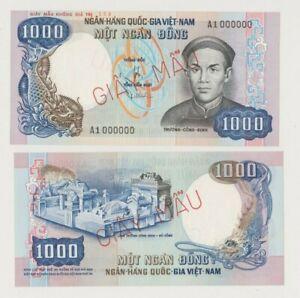 SOUTH VIETNAM P 34A  SPECIMEN 1.000  DONG  1975 UNISSUED TRUONG CONG DINH   UNC