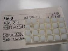 12 swarovski diagnally drilled cube shape beads,8mm white alabaster #5600