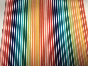 Deckchair Canvas, Connie, Multicoloured Stripes, Heavy Duty, 1.5 Meter Length