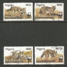 Nigeria 2003 Side-striped Jackals--Attractive Animal Topical (759-62) used