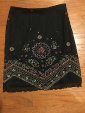 French Connection Petite woman's skirt size 8 Black sheer Overlay