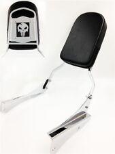 Chrome Skull Backrest Sissy Bar For 2001-2008 Honda Shadow Spirit 750 / VT750