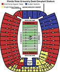2 football tickets Sec 15 Row 45 Florida St. vs. NC State Saturday November 6