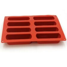 8 Cavity Elliptical Shape Silicone Cake Baking Mold Cake Pan Muffin Cups