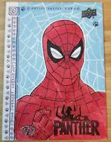 UPPER DECK BLACK PANTHER 1/1 SKETCH CARD SPIDER-MAN *ARTIST PROOF* BY ENRIQUEZ