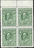 Mint NH Canada Nfdland 1932-37 F-VF  BOOKLET PANE of 4  2c Scott #186b Stamps