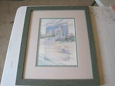 Paul Brent Signed Framed & Matted 1993 Beach Art Print 22x18""