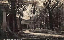 F43/ Winfield Kansas RPPC Postcard 1910 Chautauqua Park