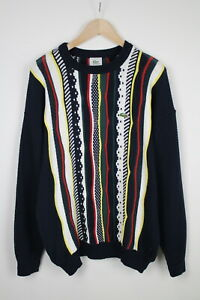 LACOSTE Men's 4 or ~X LARGE* Knitted Colourful Crew Pullover Sweater 37906_GS
