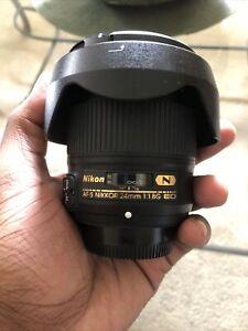 Nikon NIKKOR AF-S 24mm F/1.8 GED Wide-Angle Lens For Nikon FX/35mm Film - Black