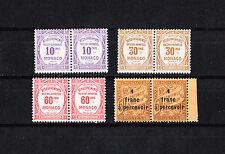 MONACO     timbre taxe   lot de 4 en paire    num: 14/15/16/17    **/*