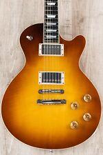Eastman SB59 GB LP-Style Guitar, Goldburst, Ebony, Flame Maple, Duncan Pickups
