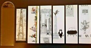 Edward Gorey Vintage Set of 6 Bookmarks Illustrated by Edward Gorey Pomegrante