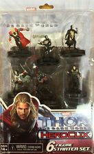 Thor: The Dark World 6 figure STARTER SET Marvel Heroclix Loki KURSE SIF Dark Elf