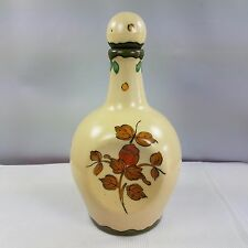Vintage Gouda Holland Music Box Hand Painted Pinched Style Liquor Decanter Jug
