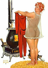 Wall Calendar 2017 [12 pages A4] Hilda Chubby PinUp Girl Redhead Vintage M420