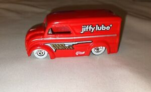 Hot Wheels Jiffy Lube Oil Van Dairy Delivery Milk Truck Red Real Rider Tires