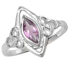 Markenlose Echte Edelstein-Ringe mit Amethyst