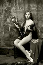 Vintage Rare Pinup Sexy Antiqe Woman Old Photo 4x6 W