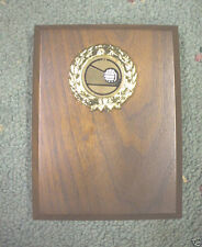 SNOWMOBILE  trophy  full color insert oval acrylic with blue trim