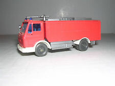 Wiking #621 Mercedes Tlf 24/50 Fire Tank Truck - Red & White - Imported 1980
