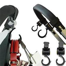 2 Carriage Storage Bag Hooks Pram Stroller Hanger Baby Pushchair Swivel Hooks JA