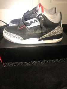 Air Jordan 3 Retro OG Black Cement 2018 Size 10.5