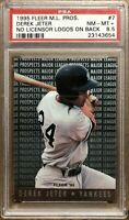 New York Yankees 1995 Fleer Prospects DEREK JETER Rookie Cards PSA 8.5 NM MT