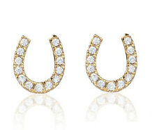 HORSE & WESTERN  JEWELLERY JEWELRY LADIES GOLD  HORSESHOE STUD EARRINGS