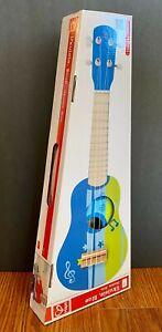 Hape Ukulele 4-String Wooden Basswood Guitar Tuneable Musical Instrument - Blue