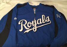 Royals Royal Blue JACKET AUTHENTIC MAJESTIC  SIZE XL