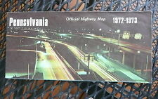 1972 1973  Pennsylvania official highway state road map