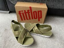 FitFlop Airmesh Avocado green polyester sandals, UK size 7,EUR 41