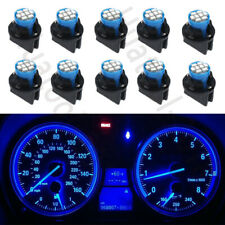 10X Blue T10 168 8SMD LED Instrument Guage Panel Dash Light bulbs PC194 Sockets