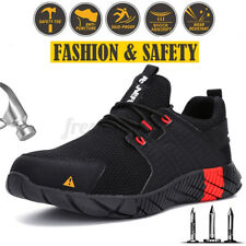 AtreGo Men's Safety Boots Steel Toe Cap Work Mesh Shoes Sport Hiking Lightweight