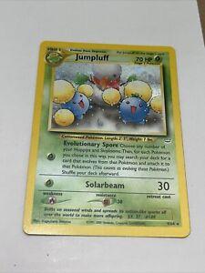 Pokemon Neo Revelation JUMPLUFF Holo Foil Rare Card 9/64 Unlimited Edition EX NM