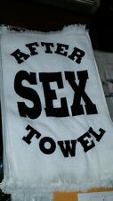 1 Brand New Unsoiled After Sex Towel gag party gift