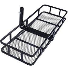 "60"" Folding Truck Car Cargo Carrier Basket Luggage Rack Hitch Hauler 2"" Receiver"