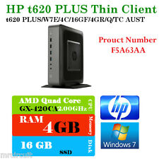 HP t620 PLUS Flexible Thin Client (ENERGY STAR)(F5A63AA), 4GB Ram,16GB mSATA SSD