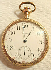 Runs Model 1908 Gold Filled Serviced Antique Waltham Pocket Watch 16S 17J 1918