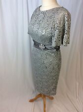 Eliza J Grey Embellished lace Size 10 Bridesmaid/Prom/Guest Dress