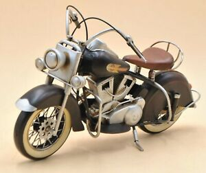 Vintage Hand Made Black Indian Motorcycle Motorbike Perfect Gift for Bikers SALE
