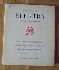 SOPHOKLES ELEKTRA WOTRUBA SELLNER DAPRA Burgtheater 60er Jahre