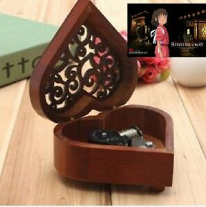 HEART WOOD SILVER WIND UP MUSIC BOX : ONE SUMMER'S DAY