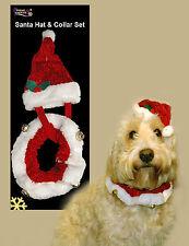 Pet Christmas Santa Hat And Collar Novelty Gift Set  - Small Dog Or Cat (54148)