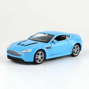 1:36 Aston Martin Vantage Model Car Diecast Toy Collection Pull Back Blue Kids