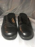 "Sas Women's Size 9.5 Black Leather Slip Ons Comfort Loafers ""Softie"" Tassles"