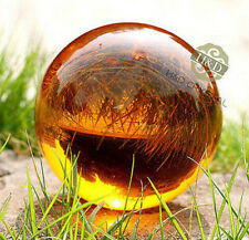 Amber Asian  Magic Crystal Healing Ball Sphere 40mm + Stand a